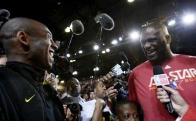 Shaq and Kobe at the 2009 All-Star Game. (REUTERS/Lucy Nicholson)